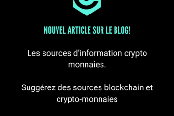 sources d'information crypto monnaies